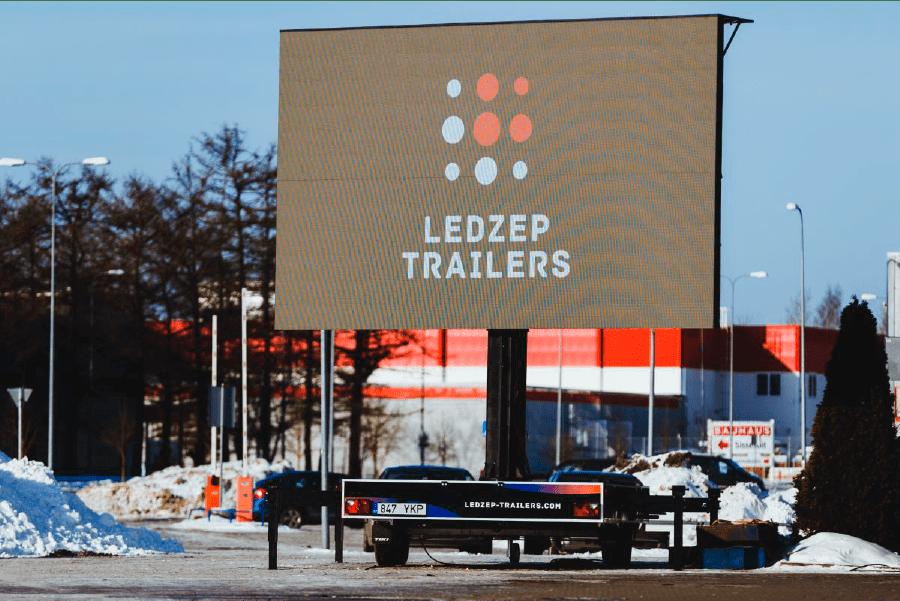 Ledzep Group Mobiilne LED ekraan treiler, teisaldatav ekraan, välireklaam, välireklaamilahendus, väliekraan