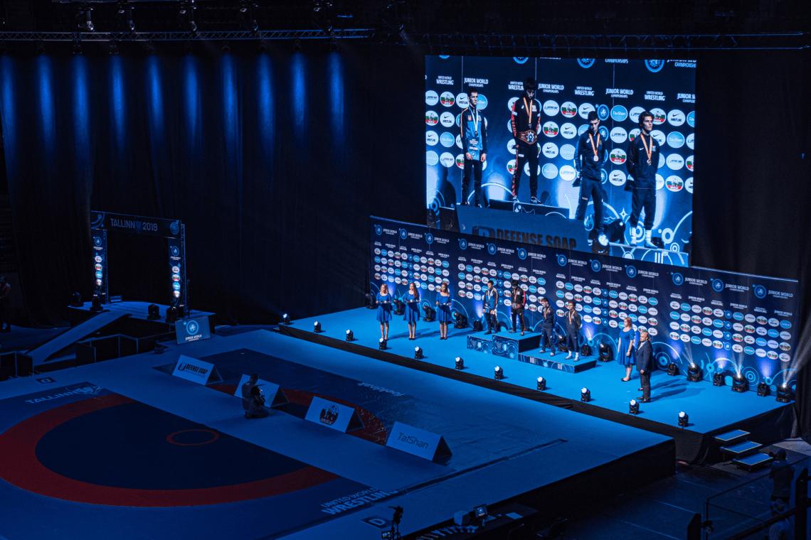 Juunioride MM maadluses 2019 Tondiraba Spordihallis, ürituse video-, IT- ja voolulahendus ning Nike pop-up poe ekraanilahendused, ürituse tehniline partner Ledzep Group