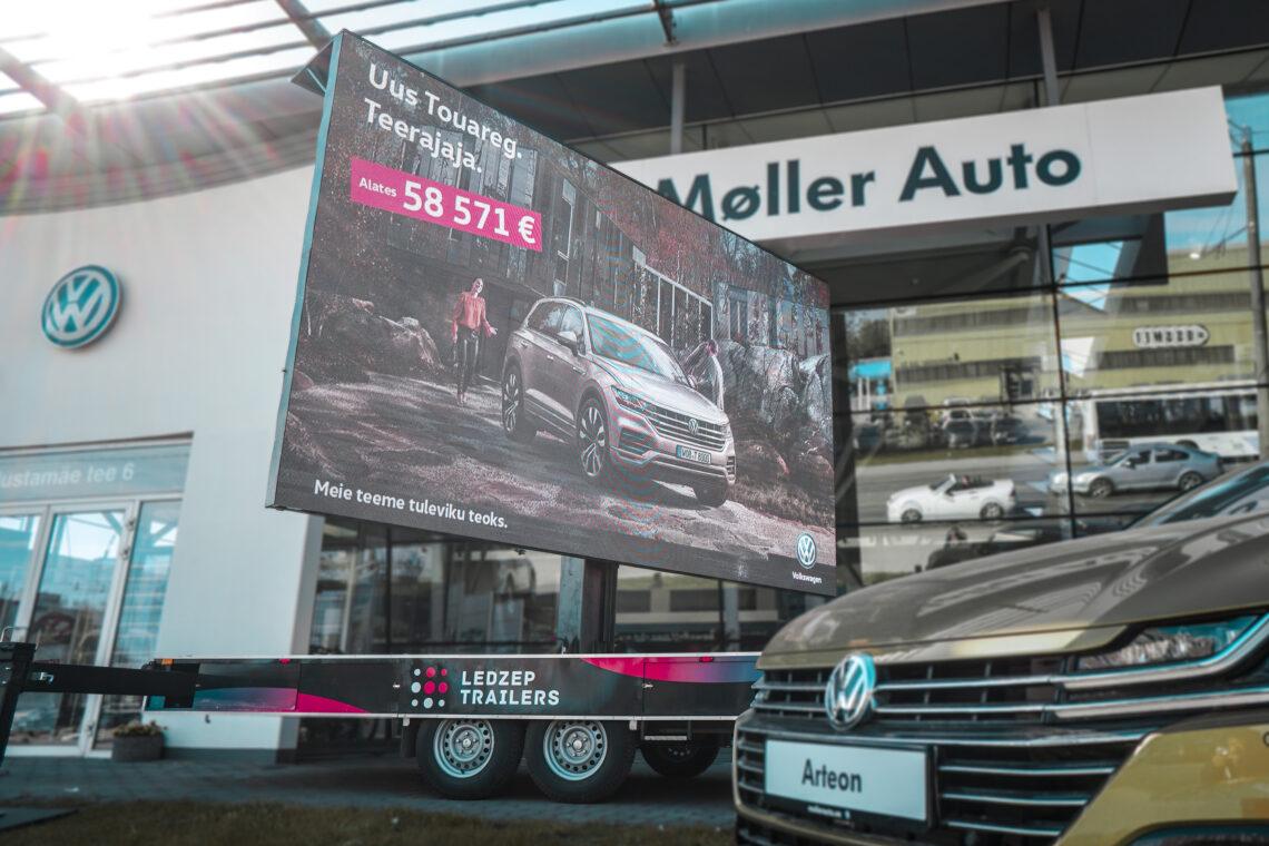Ledzep Group mobiilne LED treiler, tellija Moller Auto