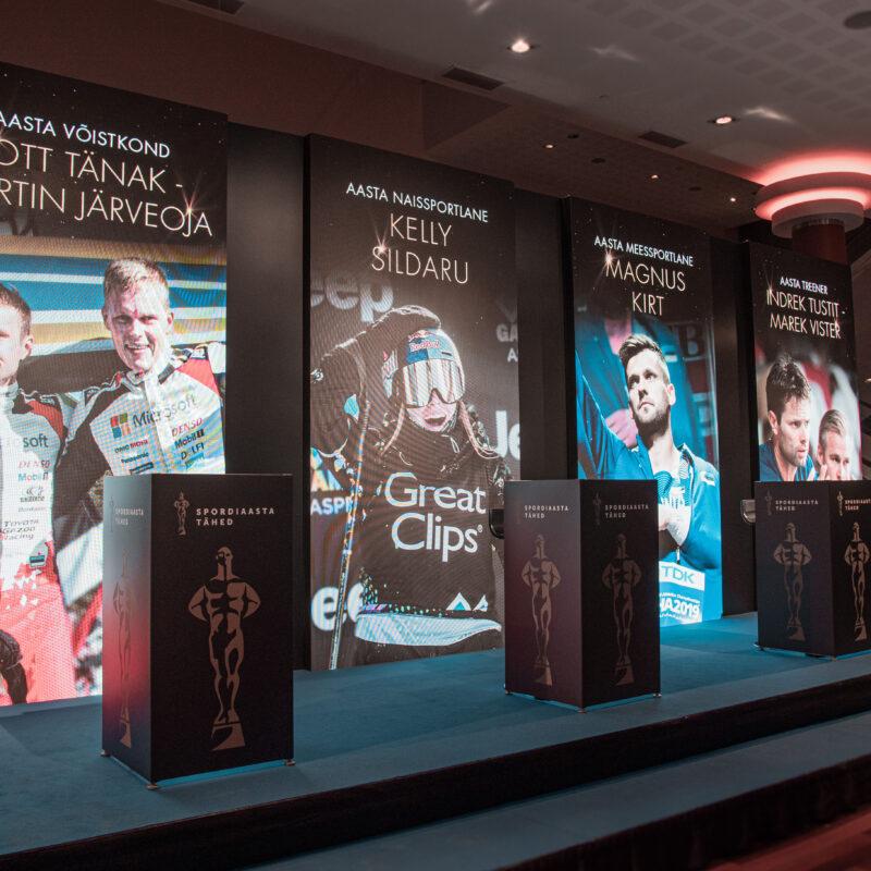 Spordiaasta Tähed 2019 gaala üritus Alexela Kontserdimajas, ürituse ekraanipartner Ledzep Group