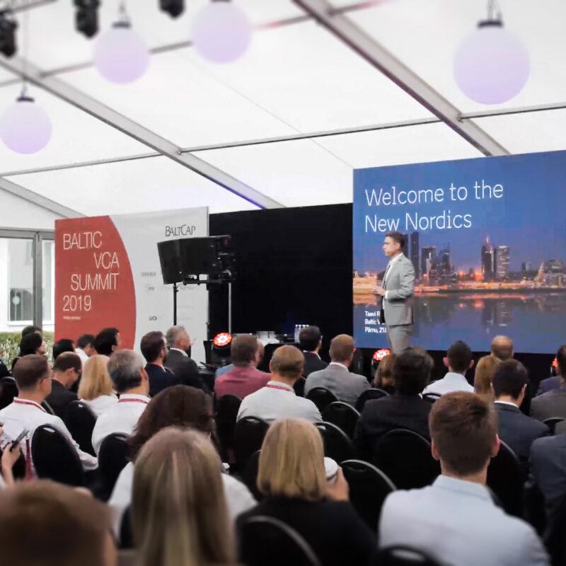 Baltic VCA Summit 2019 Pärnu Rannahotellis, ürituse tehniline partner Ledzep Group
