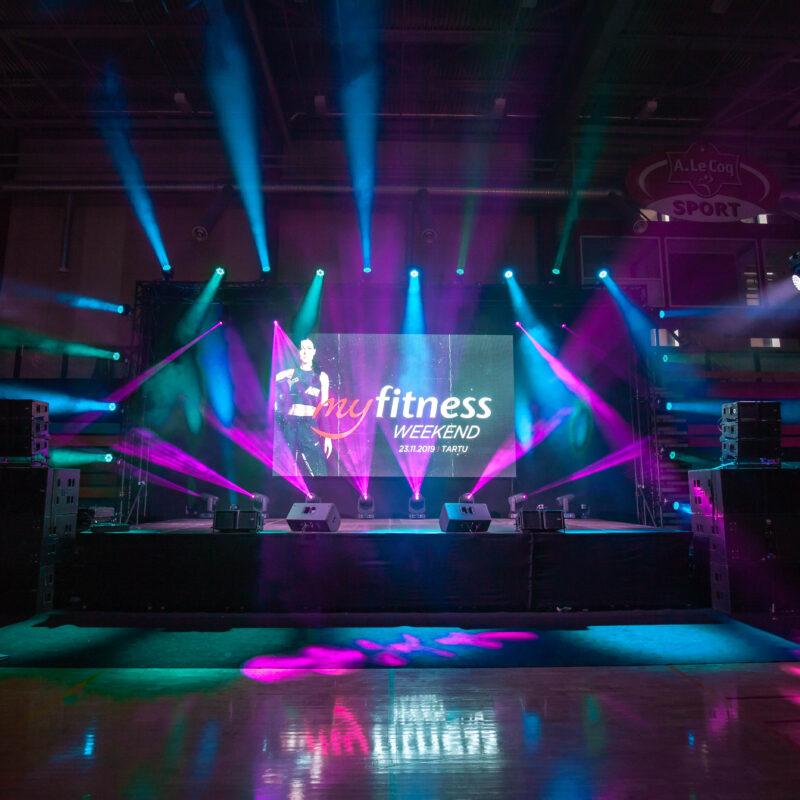 MyFitness Weekend Tartu 2019, spordiüritus, fitness üritus, rahvasport, tehniline partner Ledzep Group