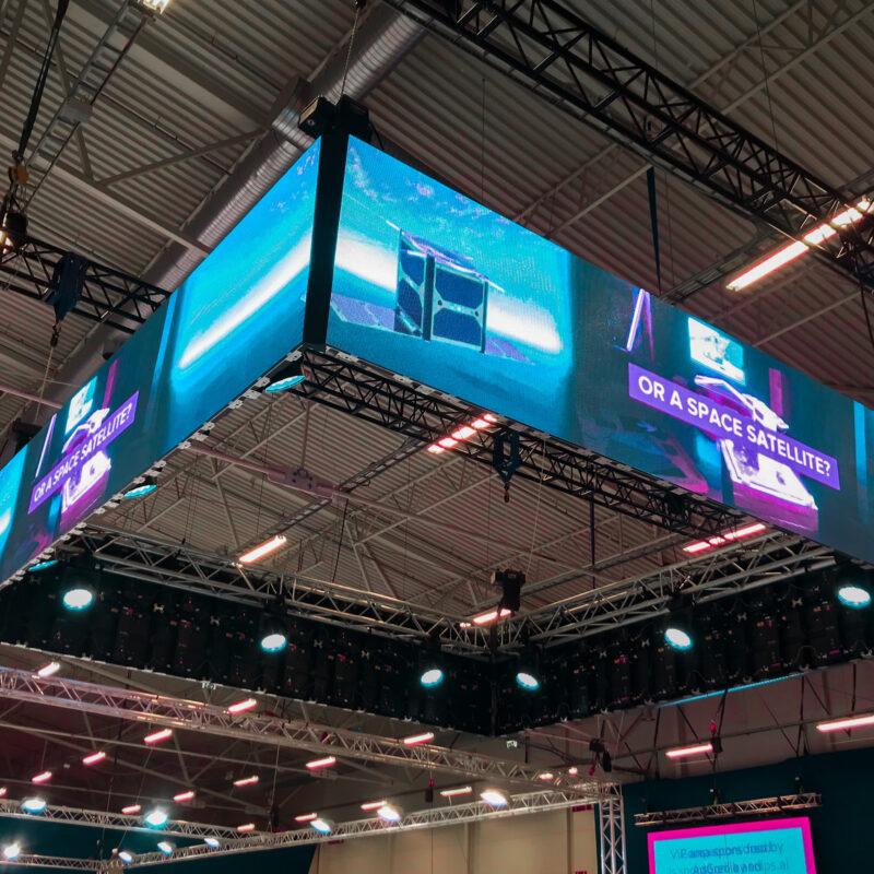 Robotex 2019 robootikavõistluse ekraanilahendused, tehniline partner Ledzep Group