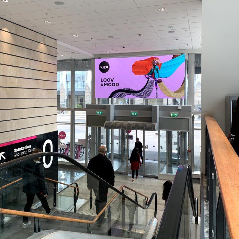 Viru Keskus, LCD ekraan, Samsung, välimeedia, ekraan, digitaalne reklaam