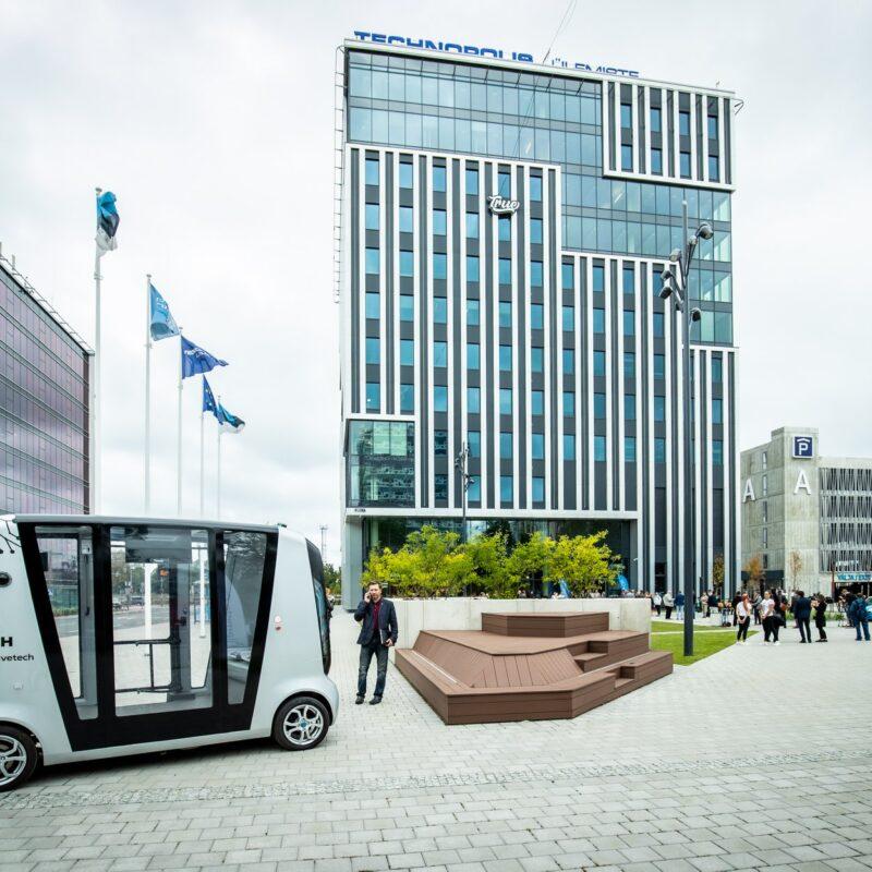 Ülemiste City, Viktor Palmi maja, LED treiler, LED ekraan, avashow, avapidustused, avamine