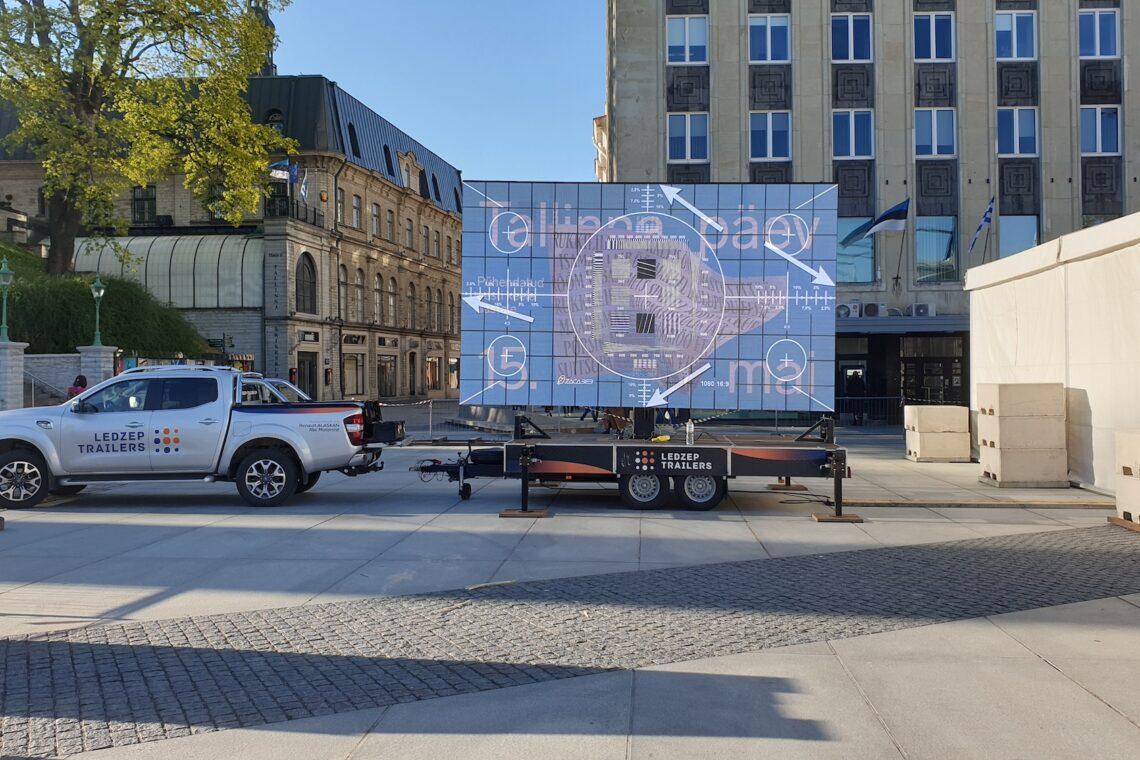 Tallinna Päev 2019, Vabaduse väljak, Ledzep Group, ekraanilahendused, videolahendused, suuuremõõtmelised ekraanid, LED ekraan, mobiilne LED treiler