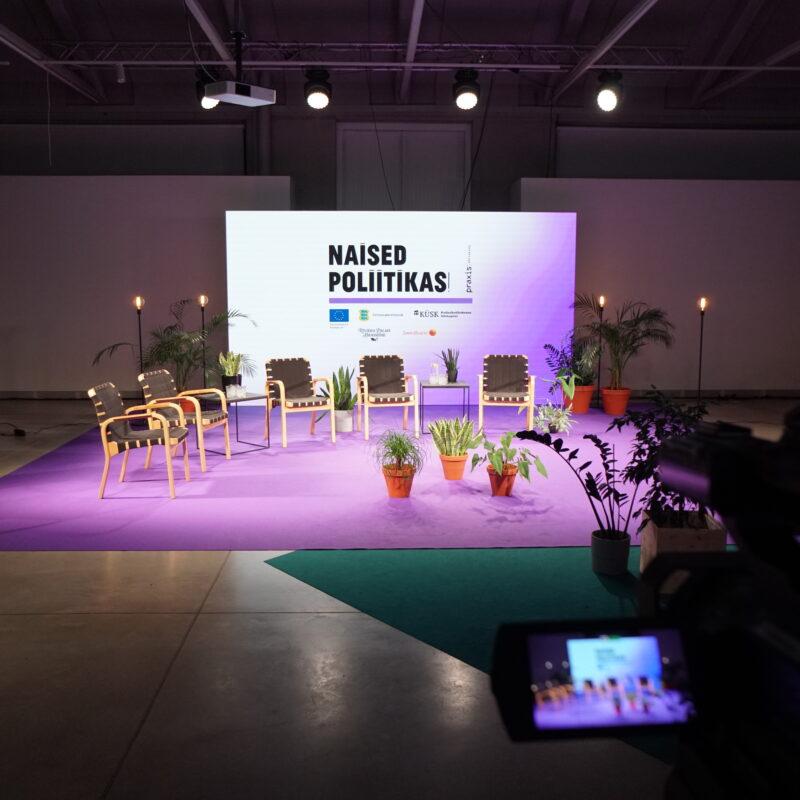"""Mõttekoda Praxis veebikonverents """"Naised poliitikas"""", tehniline partner Ledzep Group, tehnilised lahendused, otseülekanne"""