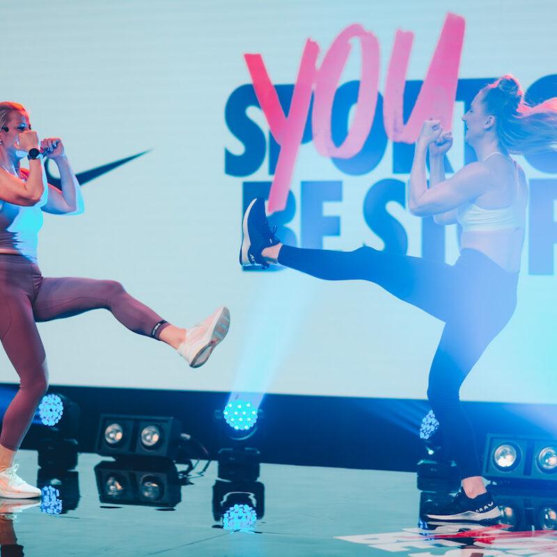Nike x MyFitness virtuaalne treeningpäev, Ledzep Group, Ledzep Studio, otseülekanne, stuudiosalvestus, LED ekraanid