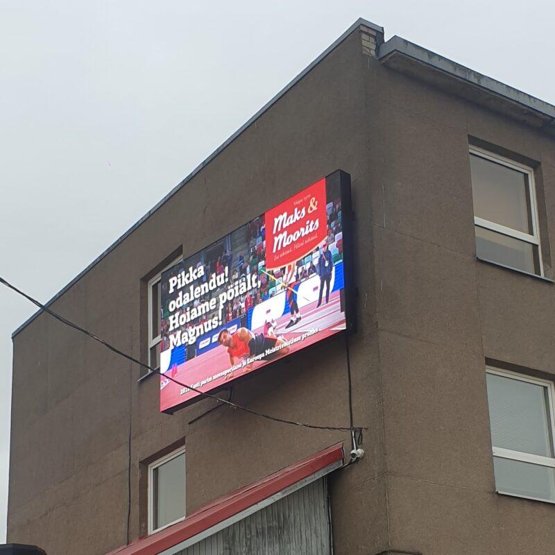 Maks & Mooritsa väliekraan, LCD ekraan, välimeedia, reklaamipind, Ledzep Group